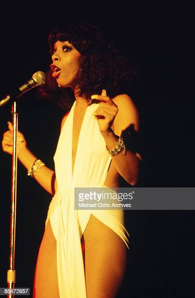 'Queen of Disco' Donna Summer performs onstage in circa 1977