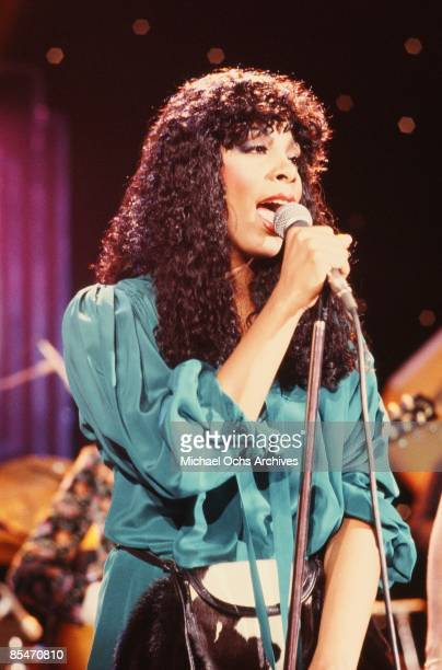 Queen of Disco Donna Summer performs onstage on February 20 1979 in Los Angeles California