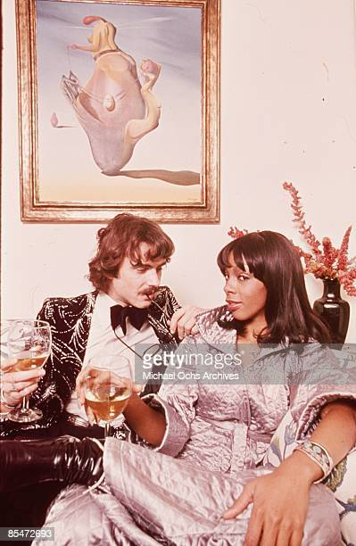 'Queen of Disco' Donna Summer poses for a portrait session at home with her beau in circa 1976 in Los Angeles California
