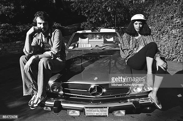 Queen of Disco Donna Summer poses for a portrait showing off her new Mercedes convertible and beau in circa 1976 in Los Angeles California