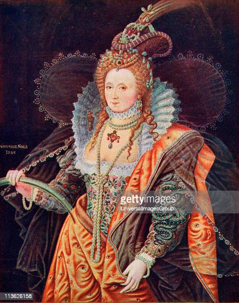 I 15331603 Queen of England From the painting by Zucchero at Hatfield House