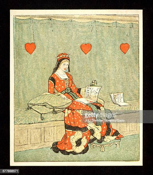 Queen of Hearts color illustration 1800