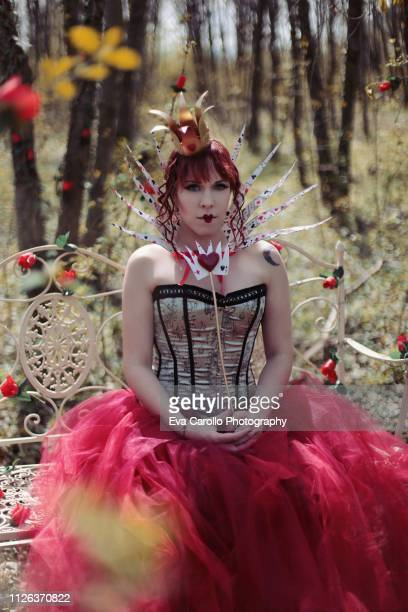 queen of hearts - scepter stock pictures, royalty-free photos & images