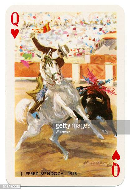 Baraja Taurina bullfighter Queen of Hearts 1965