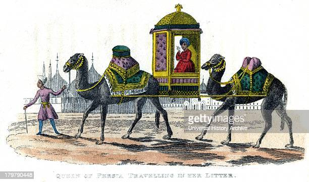Queen of Persia in her palanquin Engraving 1822