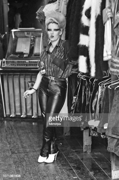 Queen of Punk Rockers Pamela Rooke aka Jordan at 'Sex' shop on the Kings Road December 1976