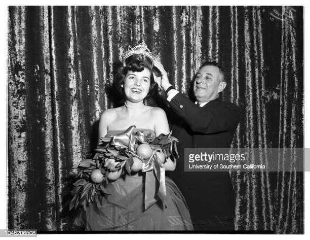 Queen of San Bernardino Orange Show 01 February 1952 Paula Faggette Dianna Cunningham Donna Percy Dianna Pettet Neva Burgess Viola Brown Lola Ford...