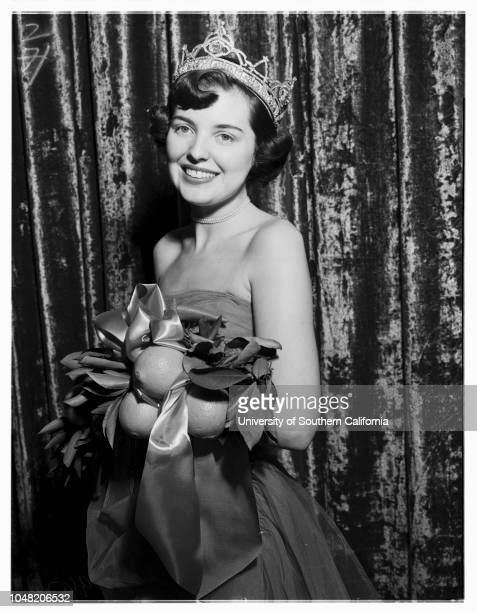 Queen of San Bernardino Orange Show 01 February 1952 Paula Faggette Dianna Cunningham Donna Percy Dianna Pettet Neva Burgess Viola Brown Lola Ford...