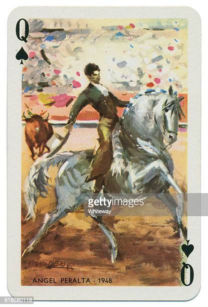 Baraja Taurina bullfighter Queen of Spades 1965