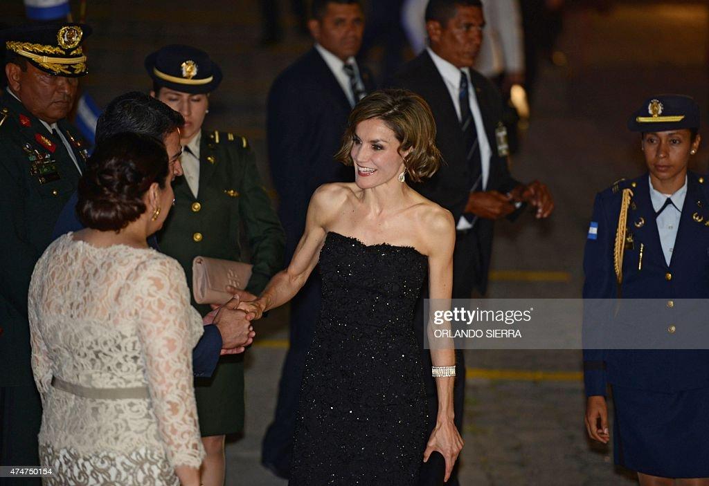 HONDURAS-SPAIN-HERNANDEZ-QUEEN LETIZIA : News Photo