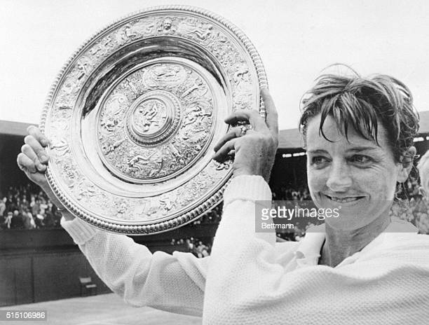 Queen of the Court London A proud moment and a proud day for Australian Margaret Court as she holds aloft her silver winner's plate which had been...