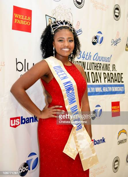 Queen of the Kindgdom Day 2018 Parade Taryn Thrasher attends the MLK Jr 34th Kingdom Day Parade at Baldwin Hills Crenshaw Plaza on January 21 2019 in...
