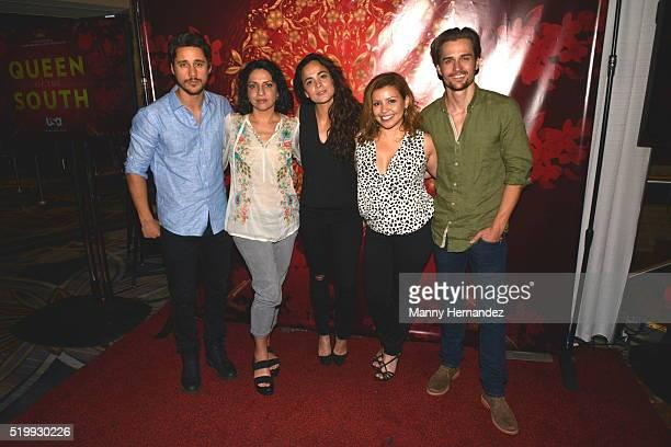 Queen of the South Cast Peter Gadiot, Veronica Falcon, Alice Braga, Justina Machado, and Jon Becker attends Hispanicize 2016 at Hotel...