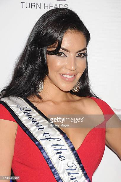 Queen of the Universe Miss Spain Ivette Saucedo attends the Friend Movement AntiBullying Benefit Concert at the El Rey Theatre on July 1 2013 in Los...