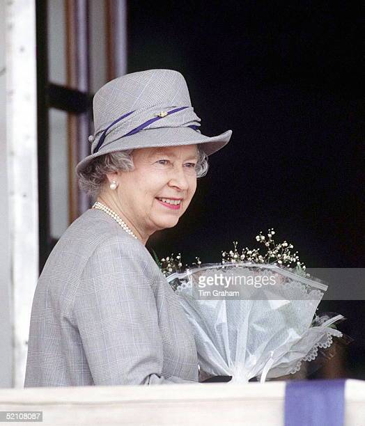 Queen On Board Royal Yacht Britannia After Her Arrival For A Historic Visit To South Africa.