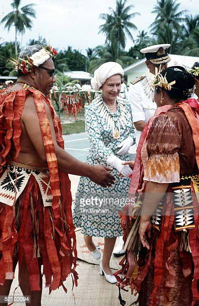 Queen On Tour In Tuvalu In The South Pacific For Commonwealth Visit