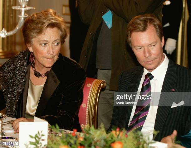 Queen Paola and Grand Duke Henri from Luxembourg have lunch before opening of an exhibition celebrating 100 years since Queen Astrid's birth at the...
