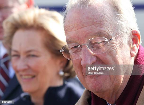 Queen Paola and King Albert from Belgium are seen at ESA on March 19 2009 in Cologne Germany Astronaut Frank De Winne is the first European astronaut...