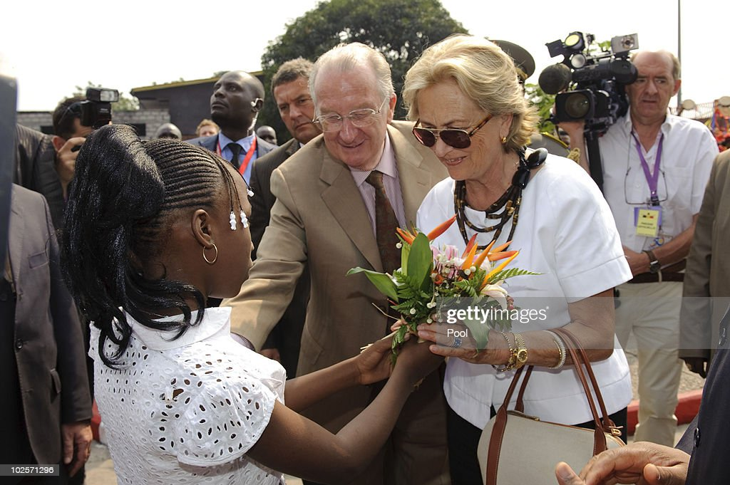 King Albert II and Queen Paolo of Belgium Visit King Boudewijn Hospital