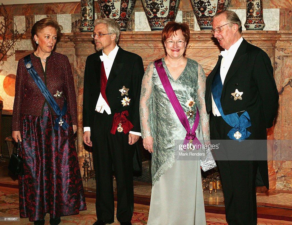 Finnish President Visit To Belgium - Day One : News Photo