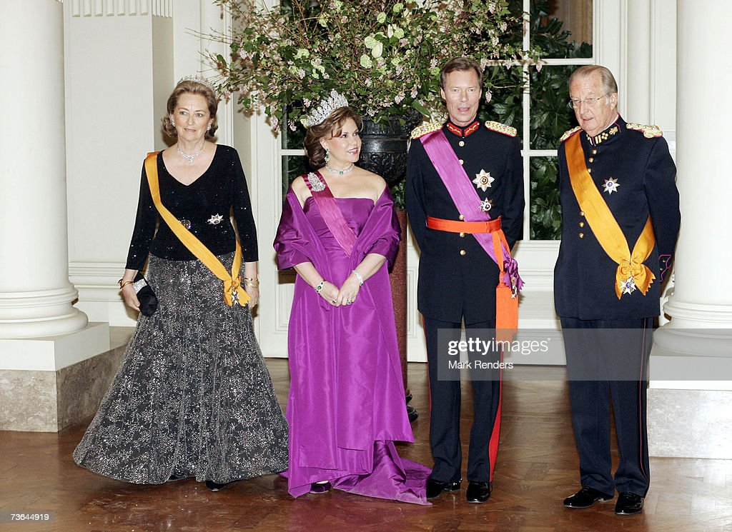 Queen Paola, Duchesse Maria Theresa, the Grand Duke Henri of Luxembourg and King Albert pose for a photo at Laeken Castle on March 20 , 2007 in Brussels, Belgium. The Grand Duke From Luxembourg and his wife Maria Theresa are in Belgium for a three day during State Visit.