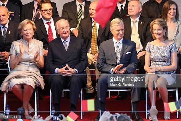 Queen Paola King Albert II of Belgium Prince Philippe of Belgium and Princess Mathilde of Belgium attend the 'Bal National' Held Ahead Of Belgium...