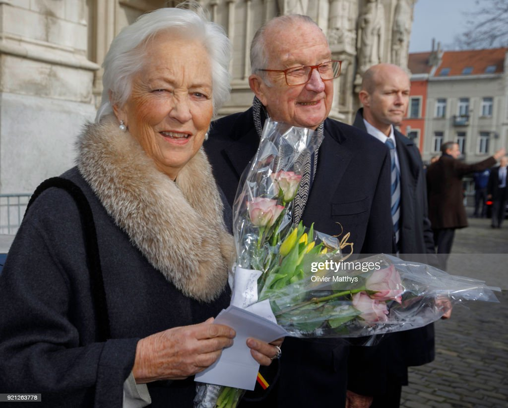 Belgium Royal Family  Attends A Mass Commemoration At Our Lady Church In Brussels