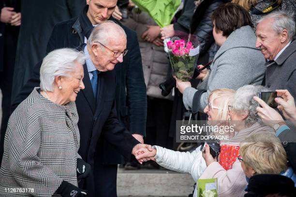 Queen Paola of Belgium and King Albert II of Belgium pictured during a special Mass to commemorate the deceased members of the Belgian Royal Family...