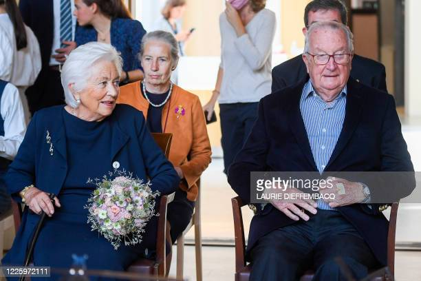 Queen Paola of Belgium and King Albert II of Belgium pictured during a concert of Trio Arnold and Jonathan Fournel at the Queen Elisabeth Music...