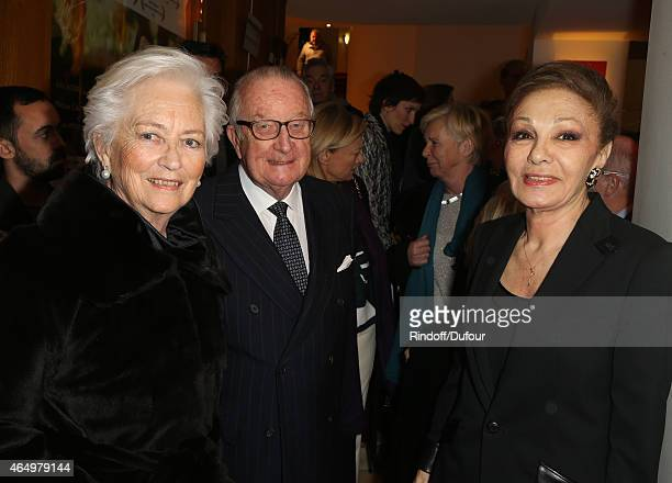 Queen Paola of Belgium and King Albert II of BelgiumnSMI Farah Pahlavi attend the 'Talking to the TreesRetour a  la Vie' Paris screening at Cinema...