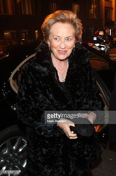 Queen Paola of Belgium arrives at Palais des BeauxArts on January 17 2012 in Brussels Belgium