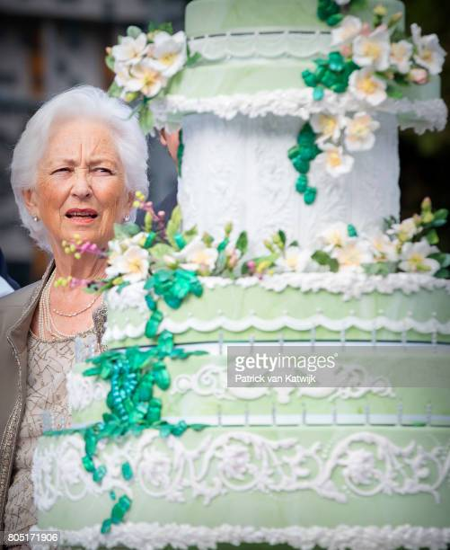 Queen Paola of Belgium attends the 80th birthday celebrations of Belgian Queen Paola on June 29 2017 in Waterloo Belgium The celebration is organized...