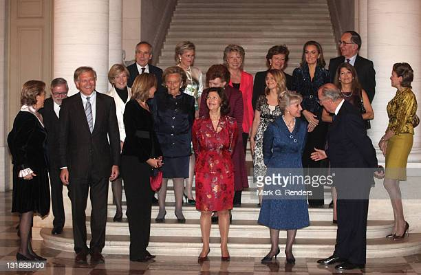 Queen Paola of Belgium Belgian Justice Minister Stefaan De Clerck Her Royal Highness Infanta Cristina of Spain Queen Silvia of Sweden Her Royal...