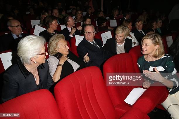 Queen Paola of Belgium Bernadette Chirac King Albert II of Belgium and Isabelle Barnier attend the Talking to the TreesRetour a la Vie Paris...