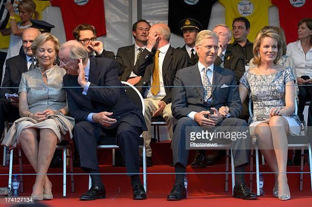 Queen Paola of Belgium King Albert II of Belgium Prince Philippe of Belgium and Princess Mathilde of Belgium attend an evening of concerts the 'Bal...