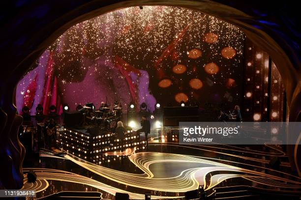 Queen performs onstage during the 91st Annual Academy Awards at Dolby Theatre on February 24 2019 in Hollywood California