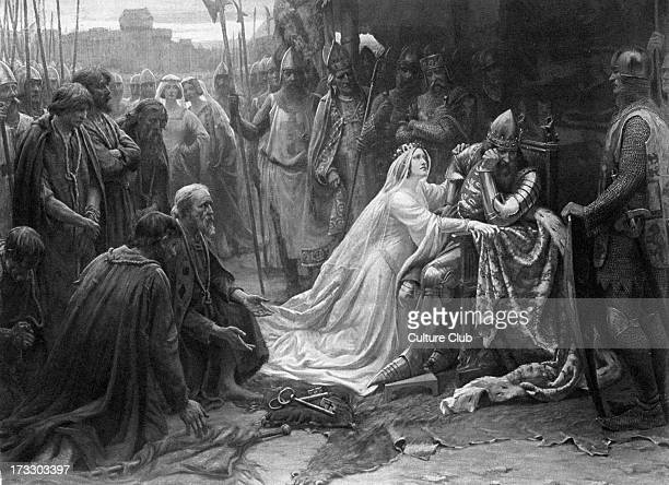 'Queen Philippa interceding for the Burghers of Calais' Philippa of Hainault Queen Consort to Edward III persuaded him to spare the lives of the...