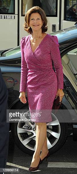 Queen Queen Silvia of Sweden Attends Swedish Club 75th Anniversary at Swedish Club on September 22 2011 in Paris France