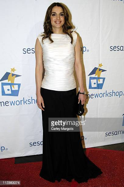 Queen Rania AlAbdullah of Jordan during Barbara Walters and Elmo Host Sesame Workshop's Third Annual Benefit Gala at Cipriani 42nd Street in New York...