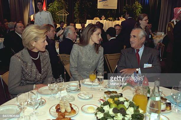 Queen Rania at the breakfast organized by the MEDEF