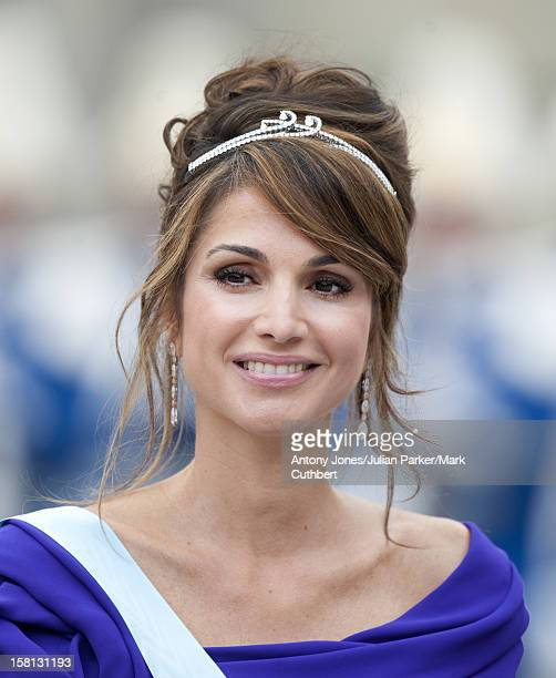 Queen Rania At The Wedding Of Crown Princess Victoria Of Sweden And Daniel Westling At Stockholm Cathedral