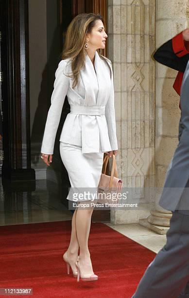 Queen Rania of Jordan at the Royal Palace on April 13 2011 in Amman Jordan