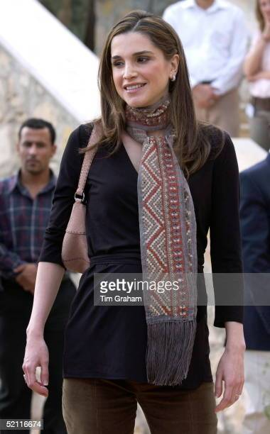 Queen Rania Of Jordan At The Royal Society For Nature Conservation Reserve In Ajloun