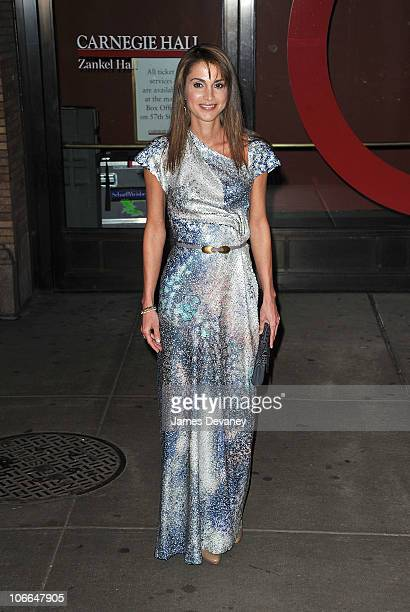 Queen Rania of Jordan attends the 20th Annual Glamour Women of the Year awards at Carnegie Hall on November 8 2010 in New York City