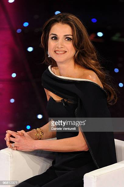 Queen Rania Of Jordan attends the 60th Sanremo Song Festival at the Ariston Theatre On February 17, 2010 in San Remo, Italy.