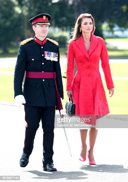 Queen Rania of Jordan attends the Sovereign's Parade at the Royal Military Academy Sandhurst on August 11 2017 in Camberley England
