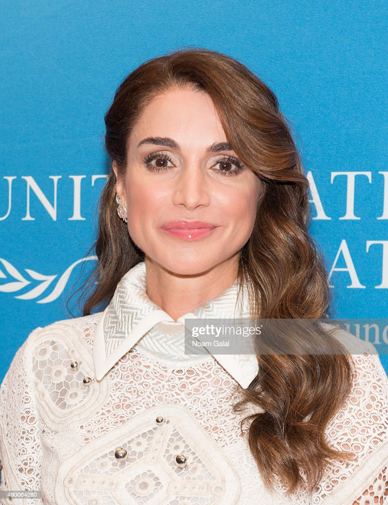 Queen Rania of Jordan attends UN Foundation's gender equality discussion at The Four Seasons Restaurant on September 25, 2015 in New York City.