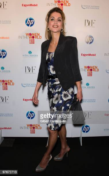 Queen Rania of Jordan attends 'Women In The World Stories and Solutions' at Hudson Theatre on March 12 2010 in New York City