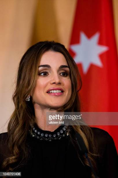 Queen Rania of Jordan has been awarded the 'Walther Rathenau Prize' in Berlin on September 17 2015 for their outstanding foreign policy commitment...