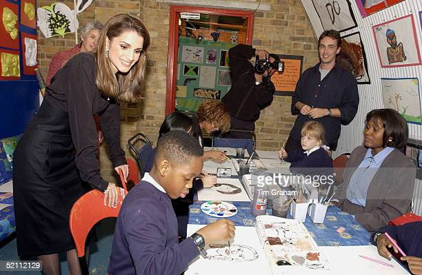 Queen Rania Of Jordan In London For A State Visit Was Invited To See The Charity Kids Company Which Offers Support To Children Who Need Either...